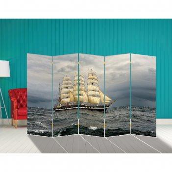 Ширма корабли. декор 21 250 x 160 см
