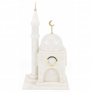 Часы мечеть малая мрамор 200х150х345 мм 5500 гр.