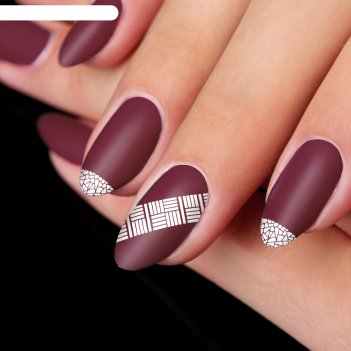 Трафареты для ногтей «витраж», 12 шт на подложке
