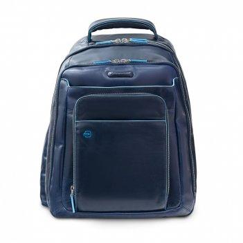 Рюкзак для ноутбука piquadro blue square, синий