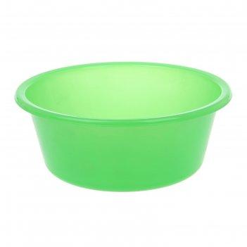 Таз пластиковый 4 л кливия, цвет зеленый
