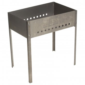 Мангал, размер 500х300х500, толщина 0,8 мм,  в коробке, без шампуров