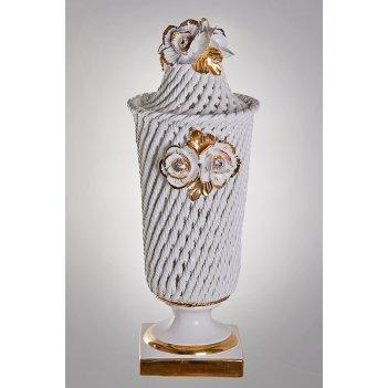 Настольная лампа розы 46см. золото
