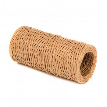 Проволока с бумажным покрытием 1.5 мм х 50 м, 80 г, светло-коричневый