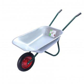 Тачка садовая, одноколёсная: груз/п 120 кг, объём 65 л, пневмоколесо 3.00-
