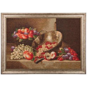 Гобеленовая картина натюрморт с виноградом 78х57...