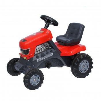 Каталка-трактор с педалями turbo 52674