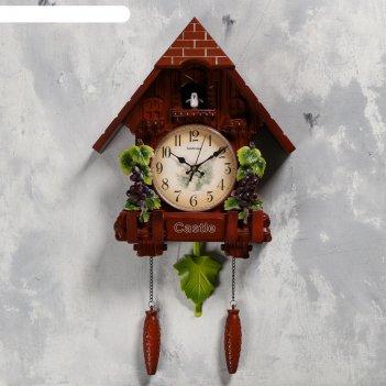 Часы настенные с кукушкой виноградная лоза, 2 шт 3 аа, 2 шт r14, плавный х