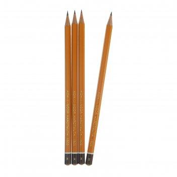 Набор 4шт карандаш ч/г k-i-n проф 1500 h, заточен. 150000h01170ru (749476)