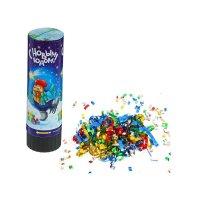 Хлопушка пружинная с новым годом (конфетти+ фольга серпантин) 15см