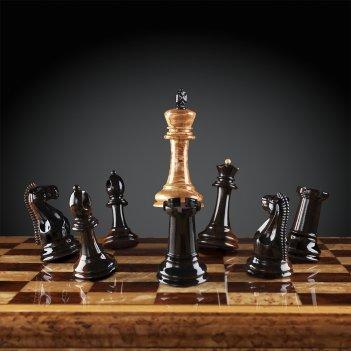 Шахматы стаунтон люкс (карельская береза/макассар) каdun