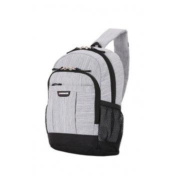 Рюкзак wenger с одним плечевым ремнем 13, ткань grey heather, 25x14x35 см,