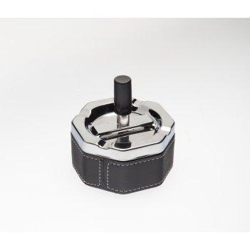 Пепельница s.quire восьмиугольная, сталь, покрытие никель + искусственная