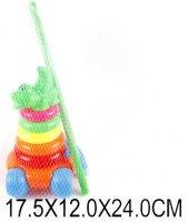 Пирамида-каталка крокодильчик 5 колец