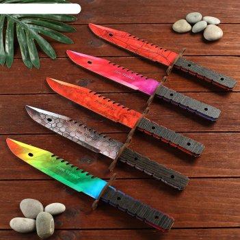 Сувенир деревянный нож 2 модификация, 5 расцветов в фасовке, микс