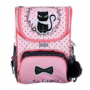 Ранец стандарт devente mini 35 х 26 х 20 см, fashion kitty, розовый/чёрный