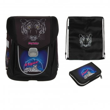 Ранец на замке mag taller boxi 38*29*19 мал наполнение: мешок,пенал tiger