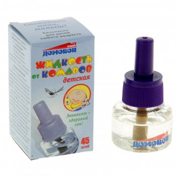 Жидкость от комаров детская спокойной ночи малыш с экстрактом эвкалипта