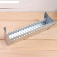 Навесная поилка-кормушка, 30 см, металл