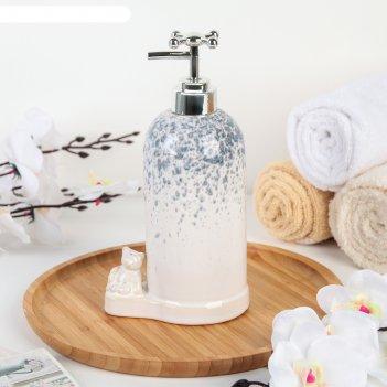 Дозатор для жидкого мыла «мишутка», цвет серый