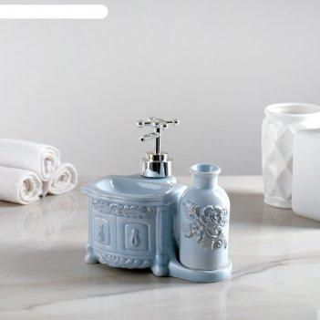Дозатор роуз для моющего средства, цвет голубой