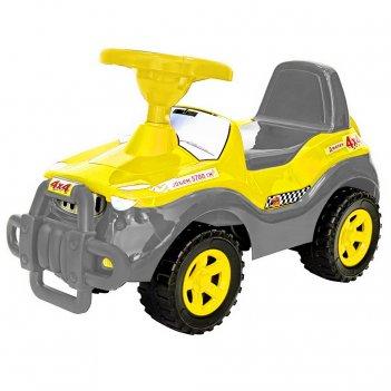 Ор105к каталка машинка джипик с клаксоном желтая