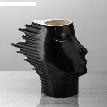 Ваза афродита, чёрный глянец, 24,5 см