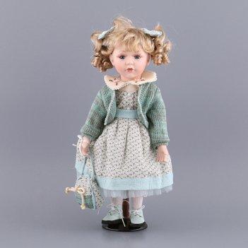 Фарфоровая кукла с мягконабивным туловищем высота=...код