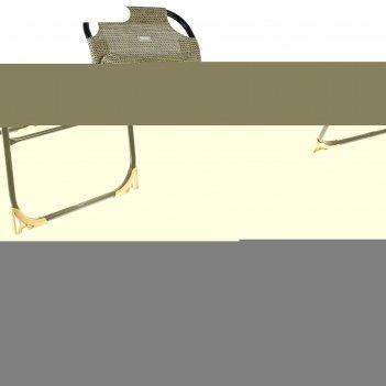 Кресло-шезлонг, 750x590x1090мм, ротанг кш2