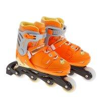Роликовые коньки раздвижные,abec 5,колеса pu 72 мм,пластиковая рама,orange