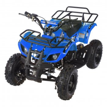 Квадроцикл детский бензиновый motax atv х-16 мини-гризли, синий, электрост