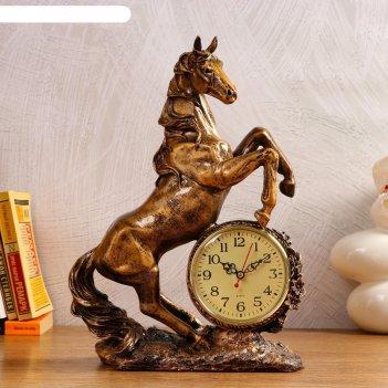 Часы настольные конь, 1 аа, дискретный ход,  27х12х36.5 см