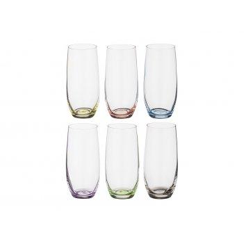 Набор стаканов для воды из 6 шт. rainbow 350 мл.