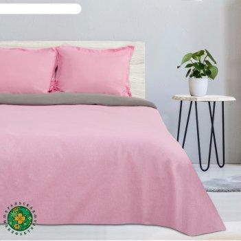 Постельное бельё этель евро розовый рассвет, размер 200х217 см, 220х240 см