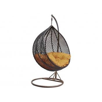 Плетеные качели kvimol km-0002 средняя корзина, садовая мебель