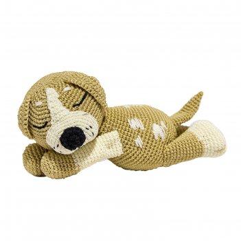 Набор для вязания игрушки спящий щенок митька 21х10 см
