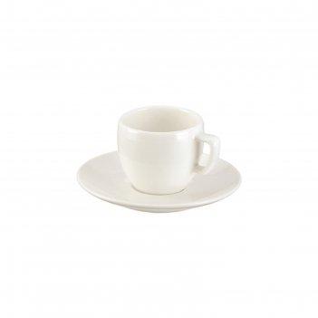 Чашка для эспрессо tescoma crema, с блюдцем, 100 мл crema (387120)
