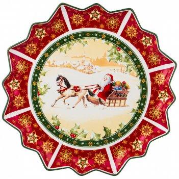Блюдо christmas collection диаметр=38 см высота=4 см (кор=10шт.)