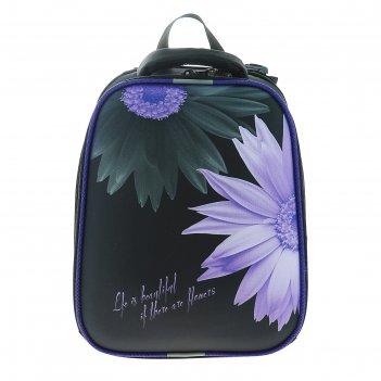 Рюкзак каркасный stavia 38*30*16 эргономичная спинка, для девочки «цветок»