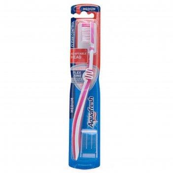 Зубная щетка aquafresh clean&control, средняя жёсткость