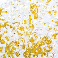 Бисер gamma 2,5х5мм (т112 прозрачный/желтый)