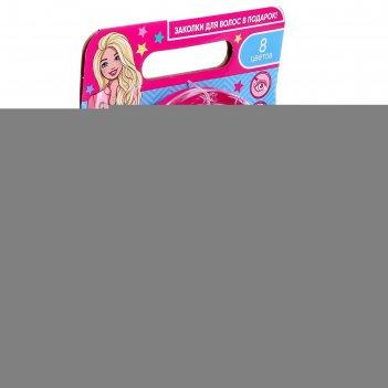 Косметика для девочек «барби» тени, лак д/ногтей, помада, заколки