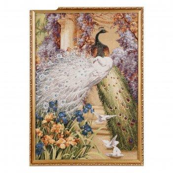 Гобеленовая картина павлиний дуэт