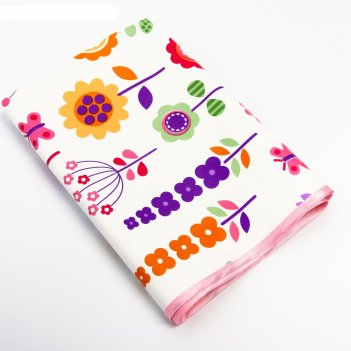 Клеёнка с пвх-покрытием «цветы», 50х70 см