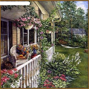 Алмазная мозаика летний сад, 35 цветов