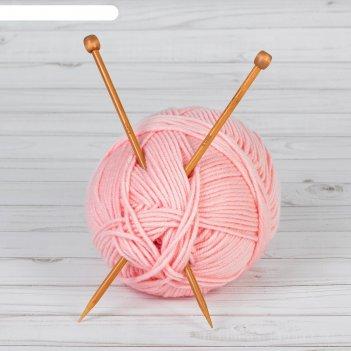 Спицы для вязания, прямые, d = 6 мм, 25 см, 2 шт