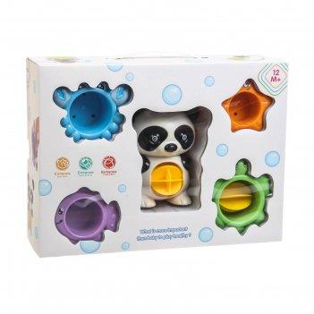 Набор игрушек для ванны «панда»