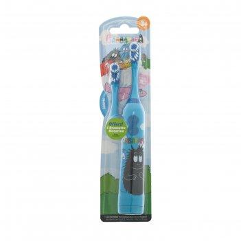 Зубная щётка barbapapa tba-21, вибрационная, мягкая, доп. насадка, 2хааа (