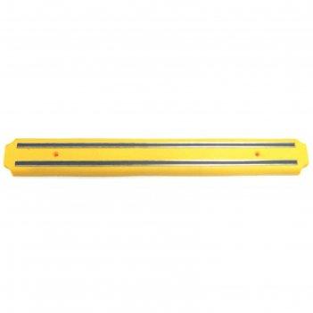 Настенный держатель магнитный atlantis, жёлтый, 38 см