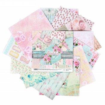 Набор бумаги для скрапбукинга shabby day, 12 листов 30,5 x 30,5 см